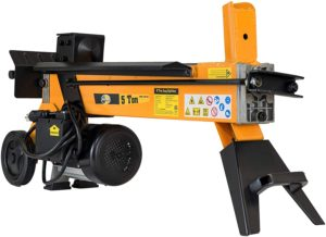 All Power America LS5T, 5-Ton 1500 Watt Electric Log Splitter, Portable Wood Cutter